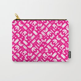 Control Your Game - White on Pink Carry-All Pouch
