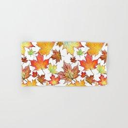 Autumn Maple Leaves Hand & Bath Towel