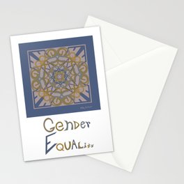 Gender Equality - Blue Ochre Stationery Cards