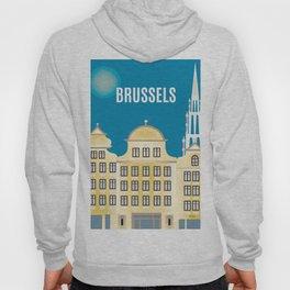 Brussels, Belgium - Skyline Illustration by Loose Petals Hoody