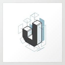 The Exploded Alphabet / J Art Print