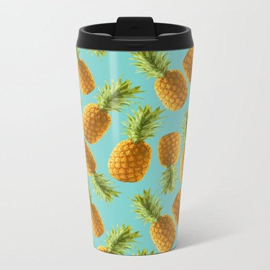 pineapple pattern Metal Travel Mug