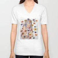 fantasy V-neck T-shirts featuring Fantasy by Condor