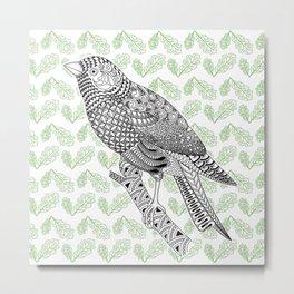 Doodle Bird Metal Print