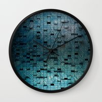 grid Wall Clocks featuring Grid by Tayler Smith