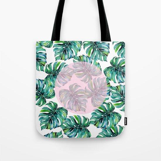 Monstera Pattern V1 #society6 #decor #buyart Tote Bag