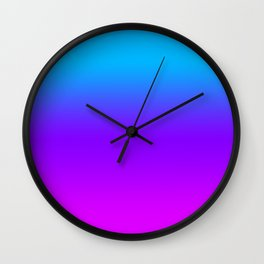 Blue/Pink Gradient Wall Clock