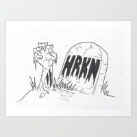 From the grave Art Print
