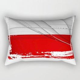 Austrian-Flag Rectangular Pillow