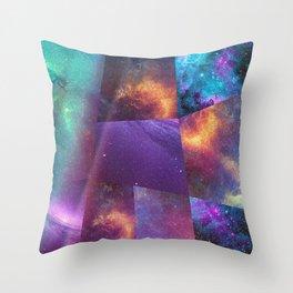 Galaxy Collage Throw Pillow