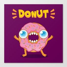 Crazy donut Canvas Print