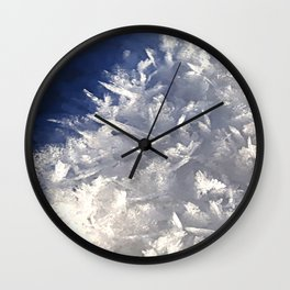 Cloud of ice crystals Wall Clock