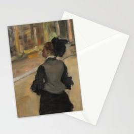 Woman Viewed from Behind (Visit to a Museum) Stationery Cards