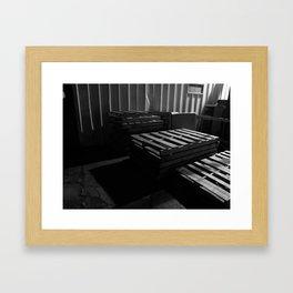 Pallet Lines Framed Art Print
