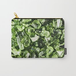 Vibrant greenery crystal rocks Carry-All Pouch