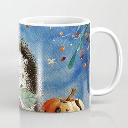 Autumn Woodland Friends Hedgehog Forest Illustration Coffee Mug