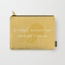 Sorting Hat Poem - Hufflepuff Carry-All Pouch