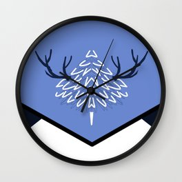 THE BLUE WHITE Wall Clock
