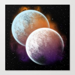 Together forever - Planets Canvas Print