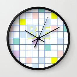 Be Windowpane Grid Wall Clock