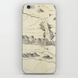 Vintage Map of The White Mountains (1852) iPhone Skin