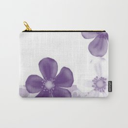 Retro 70s Flowers Lilac Carry-All Pouch