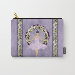 Ballerina Orchid Wreath Carry-All Pouch