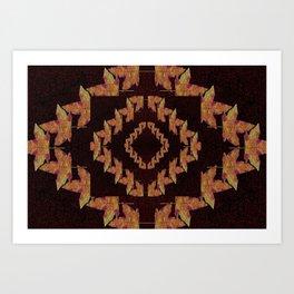 Kaleidoscope maple leafs Art Print