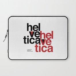 Suisse Swiss Helvetica Type Specimen Artwork in White Laptop Sleeve