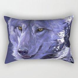 Wolf Spirit Totem Rectangular Pillow