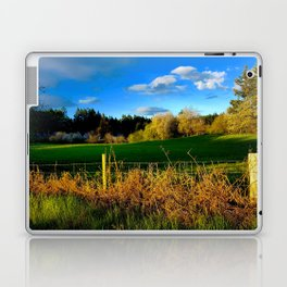 Golden Evening Light Across A Field Laptop & iPad Skin