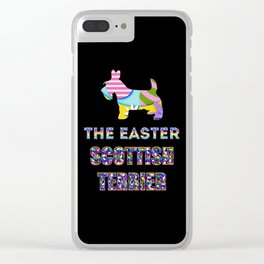 Scottish Terrier gifts | Easter gifts | Easter decorations | Easter Bunny | Spring decor Clear iPhone Case