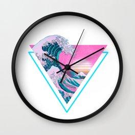Vaporwave Aesthetic 90's Great Wave Off Kanagawa Wall Clock