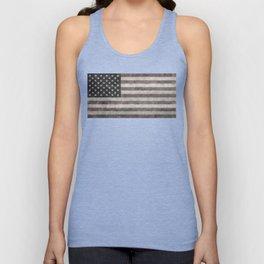 American flag, Retro desaturated look Unisex Tank Top