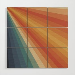 Retro 70s Sunrays Wood Wall Art