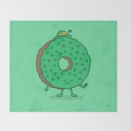 The St Patricks Day Donut Throw Blanket