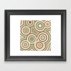 Earthy Drops Framed Art Print