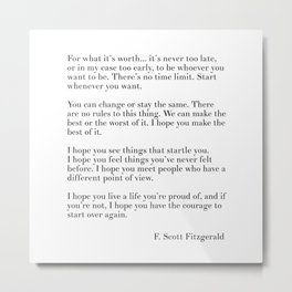 fitzgerald for what it's worth Metal Print