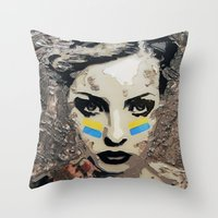 ukraine Throw Pillows featuring Ukraine, Stand Up! by AsyaCreativeArt