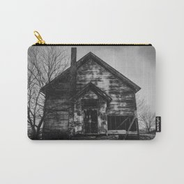 School's Out - Abandoned Schoolhouse in Iowa in Black and White Carry-All Pouch