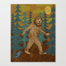 Bigfoot birthday card Canvas Print