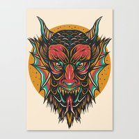 demon Canvas Prints featuring Demon by MIRKOW GASTOW