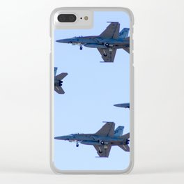 Avalon Airshow - RAAF FA-18 Hornets - Formation Flying Clear iPhone Case
