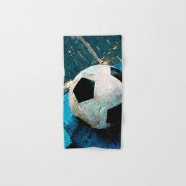 The soccerball version 2 Hand & Bath Towel