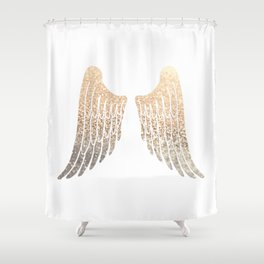 GOLD WINGS Shower Curtain