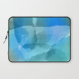 Blue Beach Abstract Watercolor Laptop Sleeve