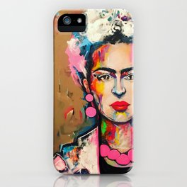 Abstract Frida iPhone Case