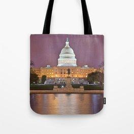 Glowing Washington DC Capitol Tote Bag