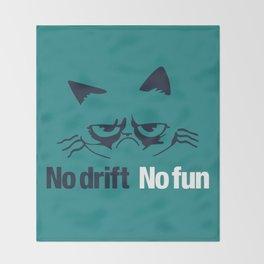 No drift No fun v2 HQvector Throw Blanket