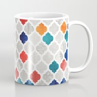 spice Mugs featuring Sea & Spice Moroccan Pattern by micklyn